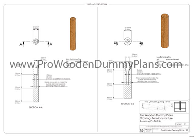 Wing Chun Wooden Dummy Blueprints