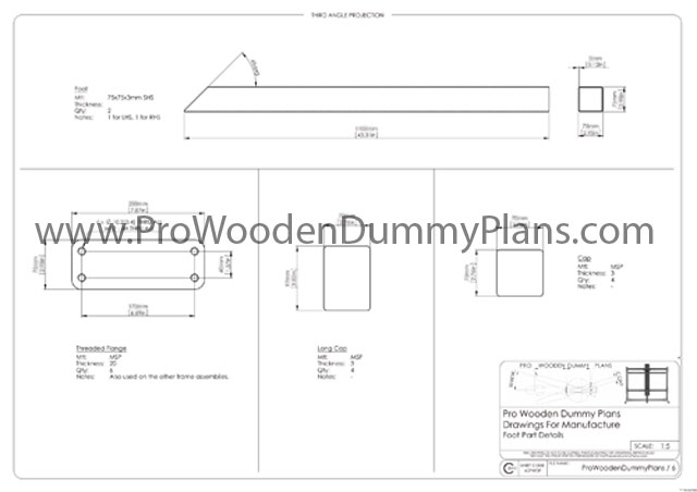 how to build a wooden dummy stand